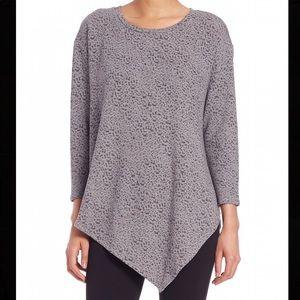 Soft Joie Asymmetric Sweater in Grey Leopard 🐆